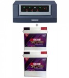 LUMINOUS ECO WATT Sine Wave 1665VA Home UPS+Exide Gel Magic-1500 (150AH)