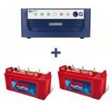 Luminous Eco Watt 1650 VA Home UPS+EXIDE INVA PLUS 1500 (150 ah)