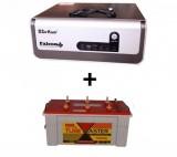 Sukam Falcon+ Pure Sinewave 1100va Home UPS+Exide TubeMaster Tubular TM500L (150Ah)