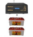 Su-Kam Falcon++ 1100 Pure Sine Wave Inverter+Exide TubeMaster Tubular TM500L (150Ah)