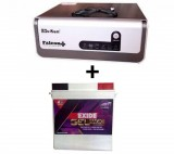 Sukam Falcon+ Pure Sinewave 1100va Home UPS+Exide Gel Magic-1500 150AH