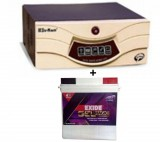 Sukam Shiny Sine Wave 700VA HomeUPS+Exide Gel Magic-1500 150AH
