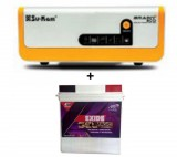 Su-kam Brainy 1100 ECO Solar Home UPS+Exide Gel Magic-1500 150AH