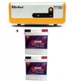 SU-KAM BRAINY ECO 1600 SOLAR HOME UPS+Exide Gel Magic-1500 150AH