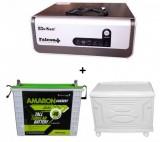 Sukam Falcon+ Pure Sinewave 1100va Home UPS+Amaron AAM-CR-CRTT180 (180Ah)