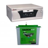 Microtek EB 700VA Square Wave Inverter and Amaron AAM-CR-CRTT150 150AH Tall Tubular Battery