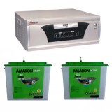 Microtek EB 1600VA Square Wave Inverter + Amaron CR200TT (200AH) Tall Tubular Battery