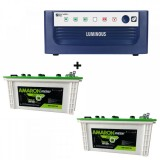 Luminous Eco Watt 1650 VA Home UPS + Amaron EM150ST30 (150Ah)