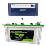 LUMINOUS ECO WATT Sine Wave 850OR865OR950 Home UPS + Amaron EM150ST30 (150Ah)
