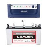 Luminous Eco Watt 650or665or Home UPS + Leader LSTJ 14500 (145Ah)