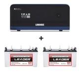 Luminous Zelio 1700 Sine Wave Home UPS + Leader LSTJ 14500 (145Ah) Combo