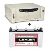 Microtek UPS EB 700 VA + Leader LSTJ 14500 (145Ah)
