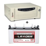 Microtek UPS EB 900 VA + Leader LSTJ 14500 (145Ah)
