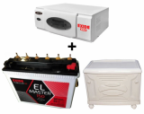 Exide Eco 700VA Home Ups + Exide EL Master (150Ah) Battery