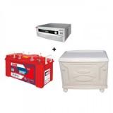 Exide HomeUPS Sine Wave 700VA + Inva Red 500 (150Ah) Battery