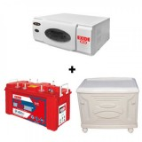 Exide ECO 900VA+ Exide Inva Red 500 (150Ah) Battery