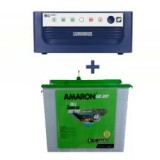 Luminous Eco Watt 850 or 865 or 950or1050 home UPS + AMARON CRTT (180Ah)